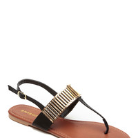 Bamboo Black Empire Thong Sandal