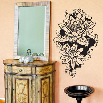 Vinyl Wall Decal Sticker Water Lotus Tattoo #1447
