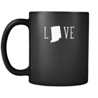 Indiana Love Indiana 11oz Black Mug