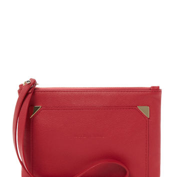 See by Chloe Women's Leather Convertible Clutch - Red