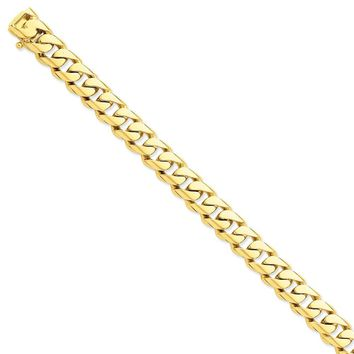 14k Yellow Gold 11.00mm Men Rounded Curb Chain Bracelet - Fine Jewelry Gift