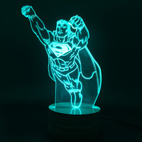 Superman Man of Steel 3D LAMP Multi Color Lighting.