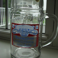 Budweiser Beer Stein 32 Oz Made in Austria Vintage Bar Mancave