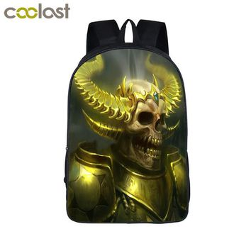 Cool Backpack school Cool Colorful Death Skull Backpack For Teenagers Men Women Daily Travel Backpacks Children School Bags Best gift Bag AT_52_3