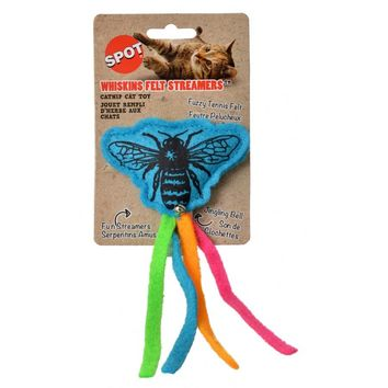 Spot Whiskins Felt Streamer with Catnip - Assorted Colors