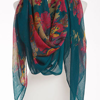 David & Young Sheer Floral Scarf | Nordstrom