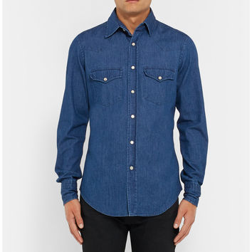 Tom Ford - Slim-Fit Denim Western Shirt | MR PORTER