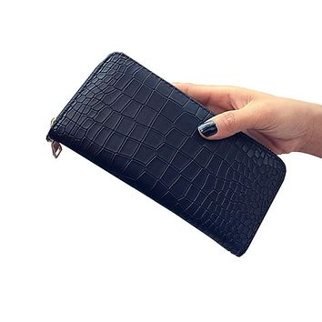 2016 Fashion Women Clutch PU Leather Wallets Female Long Wallet Stone Grain Coin Purses Mobile Phone Bags Lady Card & ID Holders