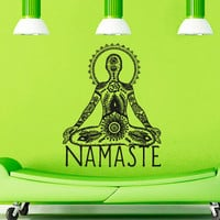 Wall Decal Vinyl Sticker Decals Art Decor Design Quote Lettering Words Symbol Namaste Mandala Yoga Indian Buddha Dorm Office Bedroom (r1333)