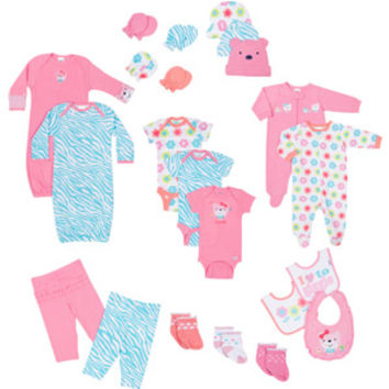 Walmart: Gerber Newborn Baby Girl 22-Piece Essential Layette Set