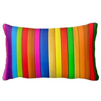 extreme color pillow bold colorful stripes