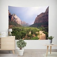 Scenic Zion Valley Wall Tapestry - 4 Sizes, Wanderlust Decor