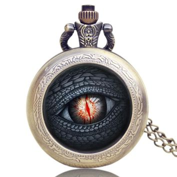 The Game of Thrones Season 4 All Men Must Die Theme Glass Dome Pocket Watch With Necklace Chain Best Gift