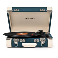 Executive Portable USB Turntable in Teal design by Crosley