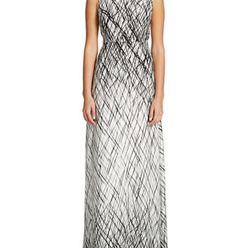 Bcbgmaxazria Chloey Open Back Maxi Dress