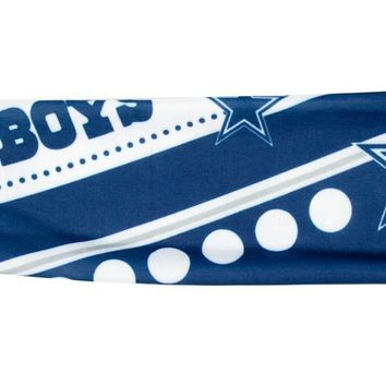 NFL Dallas Cowboys Stretch Headband Womens Ladies NFL Team Apparel