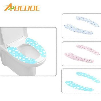 ICIKU7Q ABEDOE 1 pair Bathroom Warmer Toilet Seat Closestool Washable Soft Seat Cover Pad Cushion Warmer Seat Lid Cover Pad Toilet Seat