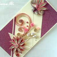 Unique Christmas quilling greeting card