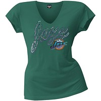 Utah Jazz - Logo Juniors V-Neck T-Shirt