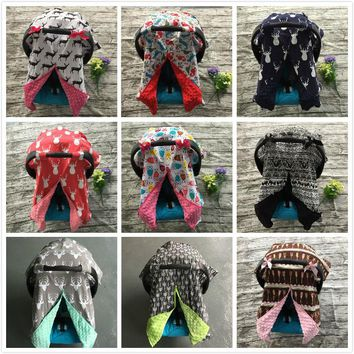 cotton new free shipping baby Car Seat Canopy cover infant  children animal deer dinosaur owl  carseat cover baby canopies