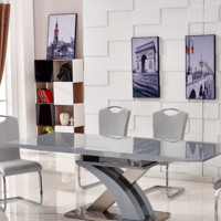 High Glossy Rectangle Multifunctional Extension Dining Table Sets