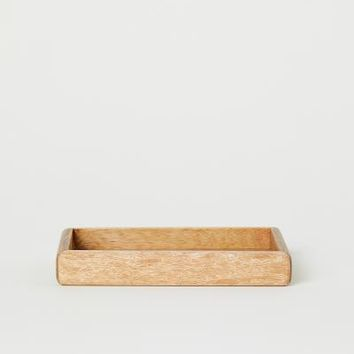 Small Wooden Tray - Brown/mango wood - Home All | H&M US