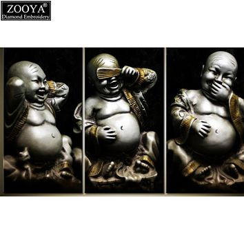 ZOOYA 5D DIY Diamond embroidery laughing Buddha diamond painting Cross Stitch full square Rhinestone mosaic decoration gift