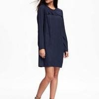 Ruffle-Trim Shift Dress for Women | Old Navy