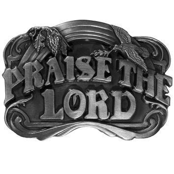 Sports Accessories - Praise the Lord Antiqued Belt Buckle