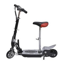HomCom Electric Scooter with Seat – Black/Red