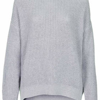 SLOUCHY GRUNGE RIBBED JUMPER