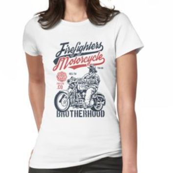 'FIREFIGHTERS MOTORCYCLE' T-Shirt by Super3