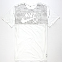 Nike Sb Dri-Fit Woodgrain Mens T-Shirt White  In Sizes