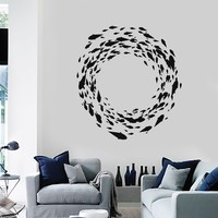 Wall Decal Fish Marine Decor Ocean Bathroom Decoration Vinyl Stickers Unique Gift (ig2856)