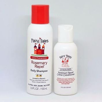 Fairy Tales Lice Prevention Rosemary Repel Shampoo 3.3 oz & Conditioner 2 oz Set