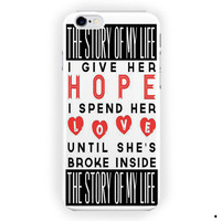 1D One Direction Boy Band Lyric For iPhone 6 / 6 Plus Case