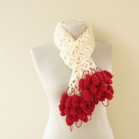 Christmas crochet scarf NEW DESIGN for 2011 Xmas by Ayca on Etsy