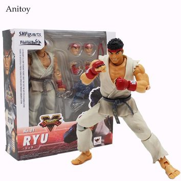 SHF Figuarts SHFiguarts Street Fighter Variant Hoshi Ryu PVC Figure Collectible Toy 15cm KT4086