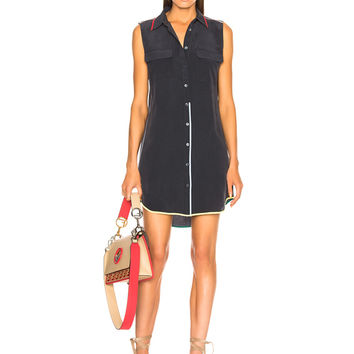 Equipment Sleeveless Slim Signature Dress in Eclipse | FWRD