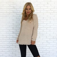 Peaches & Cream Knit Sweater Top