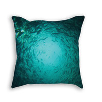 Circling Fish throw pillow
