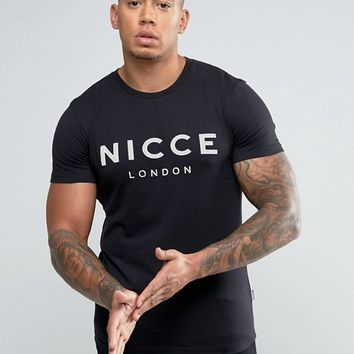 Nicce London T-Shirt With Perforated Logo at asos.com