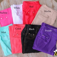 Perfect for Spring Colored Jeggings - 13 Colors!