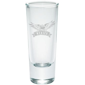 4th Of July 'Merica Eagle Etched Shot Glass Shooter