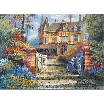 Castle in the Woods - Limited Edition Artist Proof Lithograph on Paper by Anatoly Metlan