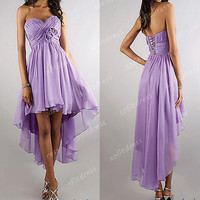 high low prom dresses, purple prom dress, chiffon prom dresses, sexy prom dresses, homecoming dresses, evening dresses, BE0328