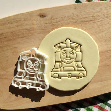 Thomas The Train Cookie Cutter Tomas Train Thomass Cupcake topper Fondant Gingerbread Cutters - Made from Eco Friendly Material