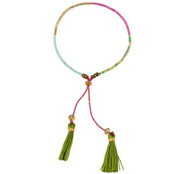 Seed Bead Bohemian Tassel Friendship Bracelet (19 Colors)