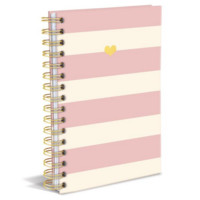 Pink Charm Hard Cover Writing Journal. 160 Ruled Pages.