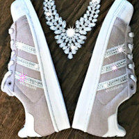 Women's Adidas Original Superstar with SWAROVSKI® Xirius Rose Crystals